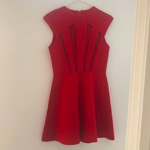 NWOT Silence + Noise Cut Out Back Red Dress, M